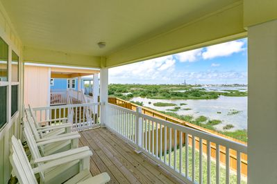 Balcony - Welcome to Port Aransas! Enjoy a breeze or wetland views from the deck.
