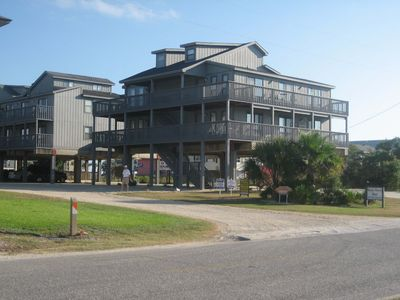 Sandy Shores West Complex - Sandy Shores West is located at 1041 West Lagoon Avenue in Gulf Shores and offers 2 buildings. Unit 202 is in the 2nd building back from the street and is on the first floor above parking. No elevator is provided but it is an easy flight of stairs equal to one story that will get you to the door