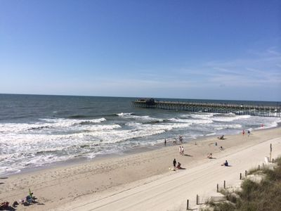 Photo for JULY 4 AVAILABLE! BEACHFRONT Condo next to Garden City pier with PRIVATE POOL!