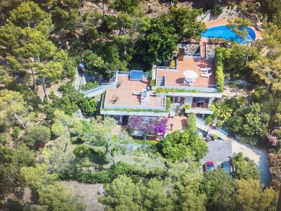 Photo for Magnificent villa with swimming pool, in th pine grove of the Andora hills