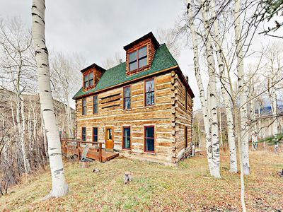 Photo for Luxe 4BR Log Cabin w/ Hot Tub & Sauna – Huge Parcel w/ Private Sledding Hill!