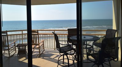 Ocean Front View From Anywhere In The Living Room to Enjoy Both Low & High Tide.