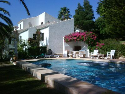 Photo for Luxurious 4 bedroom villa, Large swimming pool,beautiful secluded garden,,WIFI