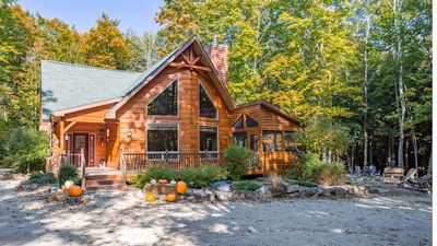 Photo for Immaculate 3 Bed / 2.5 Bath Hand-Hewn Log Cabin in Wooded Setting of Egg Harbor