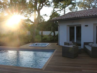 Photo for NEW HOUSE, 700M FROM THE BEACH WITH A HEATED SWIMMING POOL AND A SPA