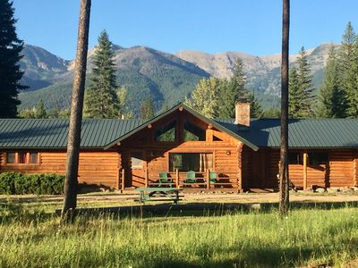 Photo for Log Cabin with Stunning Mountain Views near Swan River and Holland Lake.