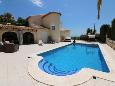 Photo for Beautiful villa with great sea views and mountain views in a quiet location in Altea