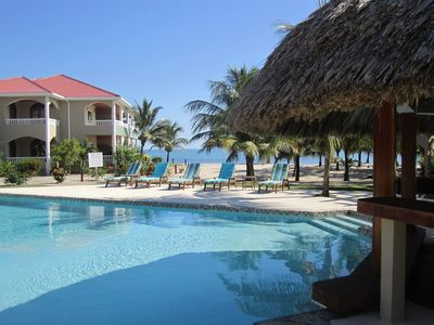 Photo for Spacious 2bd, 2bth, situated on best beach in Placencia.  Amazing ocean view!