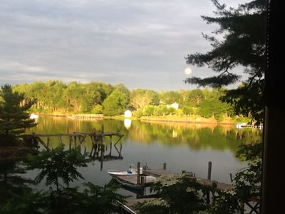 Photo for Waterfront Cedar Log Home All Rooms Have Water View Often Jaw Dropping Sunsets