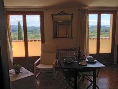 Photo for Apartment attic with a wonderful view of the Chianti hills