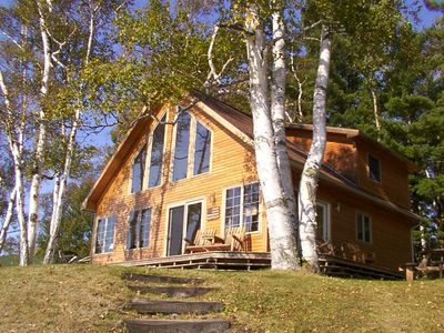Photo for Relax in Peace at this Beautiful Island Pond Lakeside Chalet