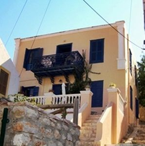 Photo for Beautiful antique Halki House with sea views to Rhodes