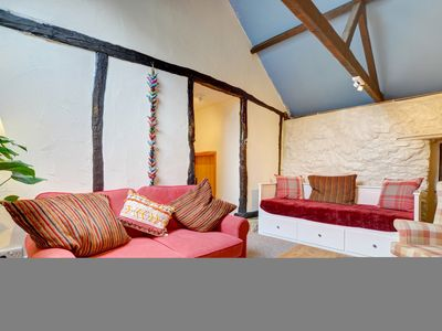 Photo for This quirky and characterful conversion of a stone barn, attached to the owners' farmhouse, combines
