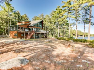 Photo for Pet-friendly waterfront home with stunning 180 degree lake and mountain views