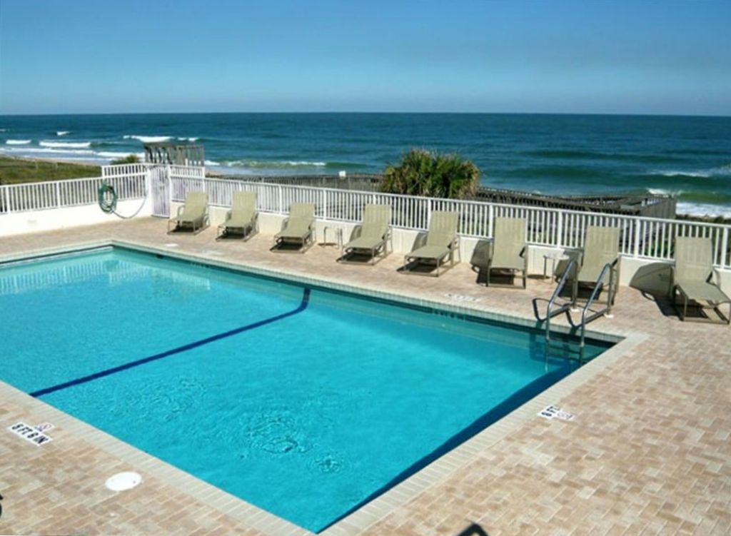 Oceanfront Swimming Pool In Ormond Beach Florida Just North Of Daytona