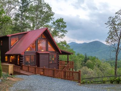 Photo for Welcome to Eagle's View Lodge!  Big Views, Wi-Fi, Hot Tub, Fire Pit & More!