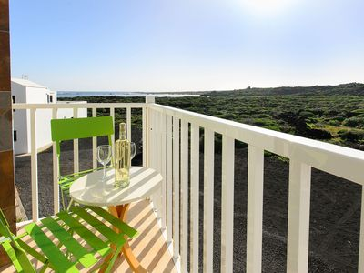 Photo for Romantic Apartment with Balcony, Panoramic View, and Wi-Fi; Close to Lagoons