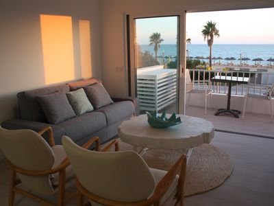Photo for Exquisite Front Beach Apartment in Quarteira
