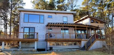 Photo for Custom Fox Island 4BD/2BA Home--Amazing Marsh Views, Only 0.3 MI to Bay Beach