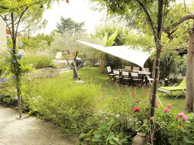 Photo for Artist's house in the heart of Montelimar with stone pool