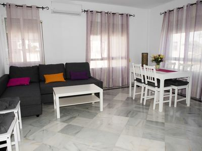 Photo for Central apartment with parking and WiFi