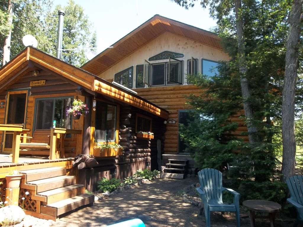 Log Cabin On Lake Point Amazing Bluff View Vrbo