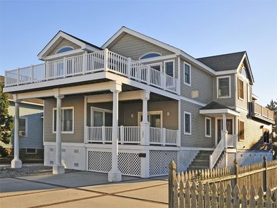 Photo for ENJOY BAY VIEWS FROM THE DECK, located 2.5 blocks from the beach,