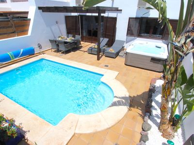 Photo for Casa Carlsson close to the Marina with heated pool, hot tub, air-con and sea vie