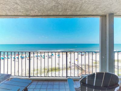 Photo for NEW LISTING! Stunning beachfront condo w/shared pool, balcony w/incredible views