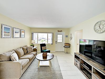 Photo for New Listing! Renovated Beauty on the Beach -- Great Locale, 1 Block to Beach