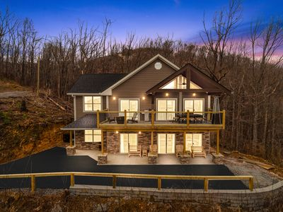 Photo for BRAND NEW Chalet Village Cabin! 3 King Suites, Game Room, Great Views & Fire Pit
