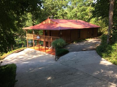 Photo for Beautiful Lakefront House, Dock w/ Covered Slip in Protected Cove, Few Steps