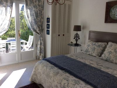 Photo for Very comfortable apartment at garden level of villa located in residential area