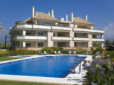 Photo for 311 Lux-Serv Apart-Estepona, 2-B'room, All Year 28c, 20m Heated Pool. Sea Views