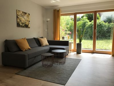 Photo for Modern 3-room apartment, up to 6 persons, garden, WLAN, conveniently located A3