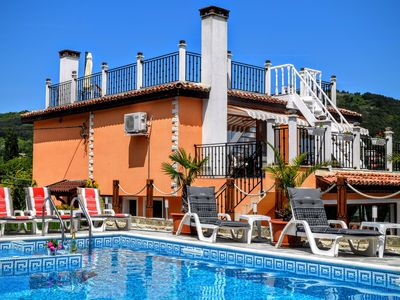 Photo for Sea view, Private Pool, Luxury Villa, Beach walking distance.
