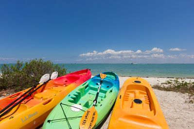 Sea Urchins is located on the island's best beach for kayaking & dolphin watching
