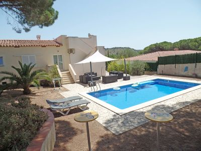 Photo for VILLA  FOR 10 GUESTS 5 BEDROOMS 4BATHROOMS PRIVATE POOL FREE WIFI AIRCO SATTV FR
