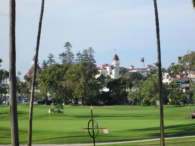 View of Hotel Del Coronado from upstairs TV room