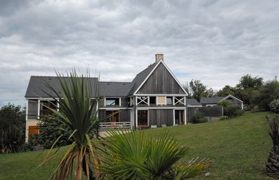 The house and his big garden, a 200 meter from the beach