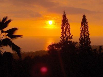 One of many sunsets from the Lanai