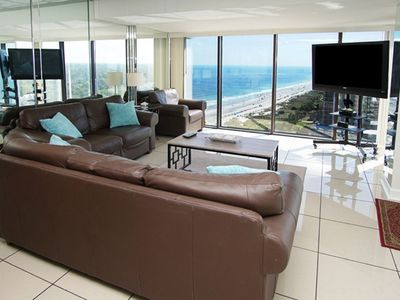 Photo for Forest Dunes 1801 PH, Spacious 3 BR Ocean View Luxury Condo with I/O Swimming Pools, Lazy River, Hot  Tub and Kiddie Pool