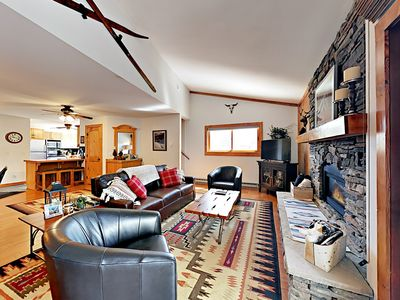 Photo for 2BR/2.5BA Cozy Breckenridge Condo with Hot Tub–Walk to Snowflake Chairlift
