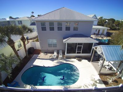 Photo for LIGHTHOUSE-PRIVATE POOL, Crystal Beach, 2 Living Rooms + Kitchens,Sleeps 16!