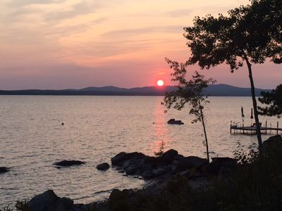 Photo for Charming Waterfront Frye Island Cottage-Stunning Sunsets