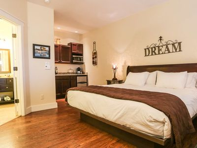 Photo for Absolutely Charming Main St Retreat Peace and Quiet, King Bed, Hot Tub/Pool Access!