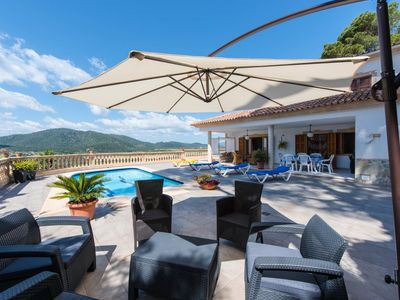Photo for Fantastic villa Finca Canyamel in Canyamel for 6 persons with pool and sea views, terrace.