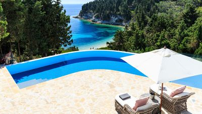 Photo for Stunning award-wining house in Paxos with direct sea access and wonderful views