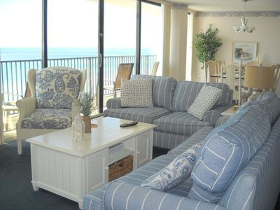 Photo for IRRESISTIBLE, HUGE, 1400 SQ'! GULF FRT! 2Br 2B, FLOOR TO CEILING GLASS! BCH-SET!