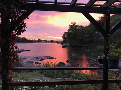 Photo for Sunsets on the Cove - Divine Waterfront Cottage in Annisquam 5bd/2ba